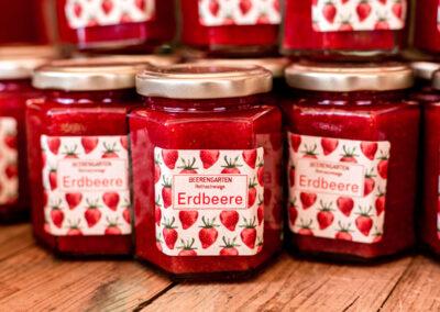 frisch eingekochte Marmelade